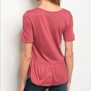 Sweet Claire Tops - NEW! 3 FOR $40 • Berry Colored Cinched Front Tunic